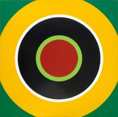 Zielscheibenbild (Target) B, 1966-68. The painter, sculptor and filmmaker Poul Gernes (1925-1996) is considered a modern classic and numbers among the most influential of Scandinavian artists. He constantly sought to link art to life by means of colour and design. Characteristic of his work are the picture series from the 1960s and 1970s that can be located somewhere between Minimalism and a Pop Art feel. In them, simple circles, letters, plain patterns or targets are varied.