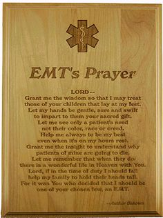 EMT :) want to get this and hang it in the house Emergency Medical Technician, Emergency Medical Services, Prayer Tattoo, Firefighter Paramedic, Paramedic Student, Nursing Students, Nursing Schools, Nurse Life, Way Of Life