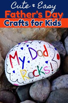 Fathers day gifts from kids - Easy Crafts for Dad from Kids - Father's Day Crafts for preschoolers/ toddlers, Pre-K, Sunday school and all kids to make - make great homemade gift ideas for dad