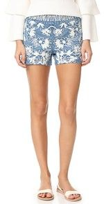 alice + olivia | SHOPBOP These summery alice + olivia shorts are detailed with bold floral embroidery. Exposed back zip. Lined.  Fabric: Embroidered chambray. Shell: 100% cotton. Lining: 97% cotton/3% elastane. Dry clean. Imported, China.
