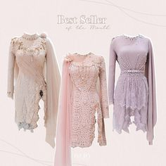 Kebaya Lace, Kebaya Brokat, Batik Kebaya, Dress Brokat, Kebaya Dress, Kebaya Modern Hijab, Model Kebaya Modern, Kebaya Muslim, Muslim Dress