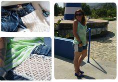 Agrega un poco de encaje para actualizar tus shorts de jeans  www.quenotecueste.blogspot.com
