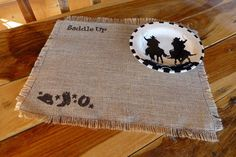 Hey, I found this really awesome Etsy listing at https://www.etsy.com/listing/212414278/burlap-placemat-country-western