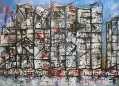 Brussels square - cubism Oil on canvas - ORIGINAL SOLD Print AVAILABLE visit http://www.dpi-media.moonfruit.com