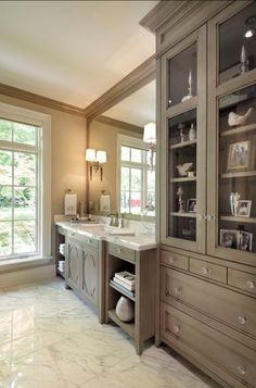 Interior Design Ideas: Paint Color The finish is glazed French Gray