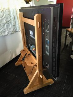 17 Awesome DIY TV Stands - Update any room with a new TV stand! Check out these 17 awesome DIY TV stands and get inspired to c -