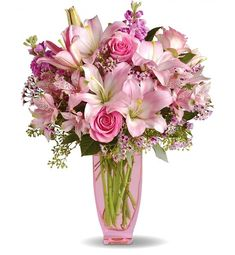 Pretty in Pink Bouquet This has the Tiger Lilly!