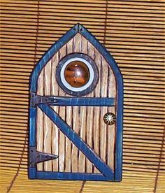 Miniature Fairy Door Garden Decor Faries Yard Art blu $12.99