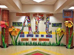 such a cool display! Youth Art Month is upon us!
