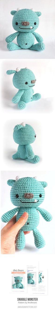 Snuggle Monster Amigurumi Pattern