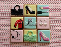 Fashion Theme Cookies by Katie's Something Sweet, via Flickr