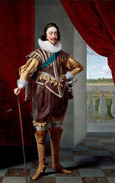 Daniel Mytens (c. 1590-1647) Charles I. Signed and dated 1628 The Queen's Gallery (Галерея королевы), Букингемский дворец, Великобритания .