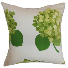 Reversible cotton accent pillow with a floral motif. Made in the USA.     Product: PillowConstruction Material: C...