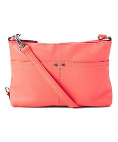 This Strawberry Heritage Leather Crossbody Bag is perfect! #zulilyfinds