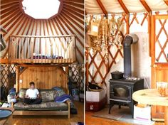 saltairandfarm:    (via At Home At Home)  This is a very cool and rather large yurt!