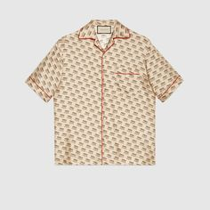 cfe717d1e38d Gucci stamp bowling shirt Casual Shirts For Men