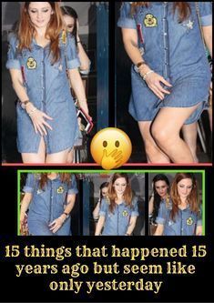 15 things that happened 15 years ago but seem like only… Funny Cat Faces, Big Music, Funny Clips, Celebs, Celebrities, New Pins, At Home Workouts, Good Times, Shirt Style