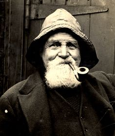 Fisherman smoking his pipe, Tobacoo