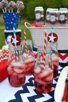 Another great idea for the Fourth of July.  No recipe attached, but I'm sure it's not rocket science.