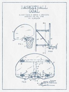 Buy photo cameron indoor stadium blueprint devil den decorations basketball drawing basketball goal patent from 1944 blue ink by aged pixel malvernweather Choice Image