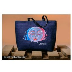5c7a720add87 Zainab tote by Brachah leather. Handmade and painted with love in Nigeria