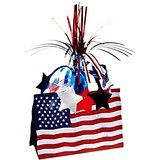 American Flag Centerpiece Party Accessory count) Includes 1 centerpiece in package Measures 13 inches tall Made of boardstock paper with a metallic burst on top Decorate tables for a Patriotic party! Patriotic Hats, Patriotic Decorations, Usa Party, Party Centerpieces, Party Favors, Flag Design, Party Items, Party Accessories, Memorial Day
