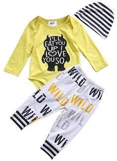 5ee9595265f6 Pudcoco 2017 Newborn Toddler Baby Boy Playsuit Bodysuit Love You Yellow  Tops+Pants Outfit Set Clothes