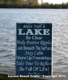 Lake House Decor  Lake Sign  Advice From A by CarovaBeachCrafts, $41.00