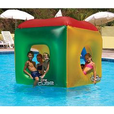 The Cube deluxe floating habitat is a hit with the kids. This totally cool Cube has big 5-foot square walls with holes that make it the ultimate floating fort.
