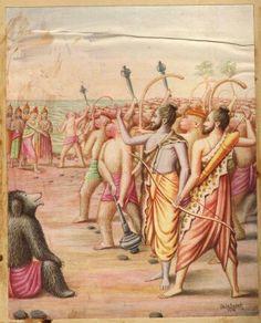 Lord Rama's Abayahahastha at Vibeeshna on joining his side...