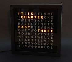 DIY Word Clock - In Seven Steps