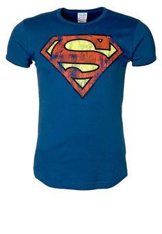 LOGOSHIRT SUPERMAN TShirt print azure blue Bekleidung bei Zalando.de | Material Oberstoff: 100% Baumwolle | Bekleidung jetzt versandkostenfrei bei Zalando.de bestellen!