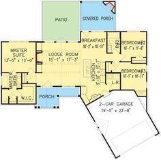 Cost-Effective Craftsman House Plan - 25610GE | 1st Floor Master Suite, CAD Available, Craftsman, Northwest, PDF, Split Bedrooms | Architectural Designs