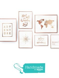 SET of 6 Prints, Travel Prints, Bedroom Decor, Rose Gold Foil Print,Home Decor, Travel Wall Art, Traveler Set Prints,Map, Compass, Adventure from Lovely Decor https://www.amazon.com/dp/B0719M17W9/ref=hnd_sw_r_pi_dp_pLTBzb9VM6WSG #handmadeatamazon