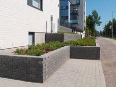 Ideakuvat | Rudus Curved Walls, Sidewalk, Garden Walls, Retaining Walls, Patio, Outdoor Decor, Home Decor, Decoration Home, Room Decor