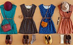 dresses and oxfords