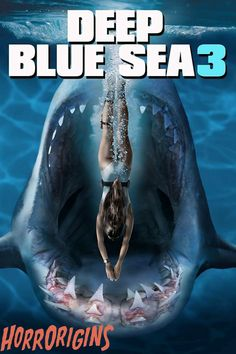 Deep Blue Sea Movie, Deep Blue Sea 2, Scary Movies, Horror Movies, Funny Horror, Halloween Movies, Nathaniel Buzolic, Film Streaming Vf, Horror Pictures