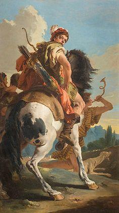 Giambattista Tiepolo - Wikipedia. Cacciatore a cavallo, 1718.