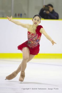 全日本ジュニア選手権での永井優香のフリースケーティング。長身を生かした表現も魅力