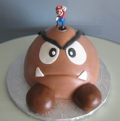 Don't you just love our Super Mario Goomba cake?!