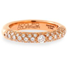 Preowned LeVian 14K Rose Gold Chocolate White Diamond Crossover