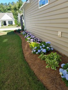 Landscaping around the house.