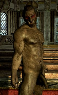 Half orc male naked