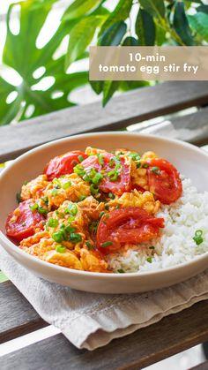 Veggie Recipes, Vegetarian Recipes, Healthy Recipes, Simple Cooking Recipes, Simple Healthy Dinner Recipes, Asian Food Recipes, Simple Meals, Healthy Comfort Food, Egg Recipes For Dinner