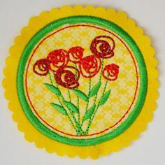 Blumen (Applikation). Märchenhafte Stickmotive für die Stickmaschine von www.mikronaut.de
