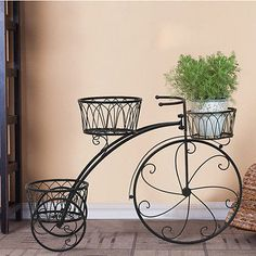 Alta Calidad Antique Hierro Forjado Soportes Plant Hierro Forjado Soporte de La Planta de La Bicicleta  Hierro  Pinterest  Hierro forjado
