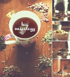 mixing different flavors of tea... i love this!