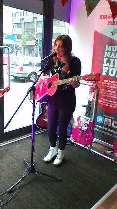 Daisy Rock artist performing live at Matchetts Music shop