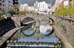 The most notable pedestrian bridges in Japan, including historic stone bridges, giant suspension bridges and perilous vine bridges. Mountainous Terrain, Pedestrian Bridge, Suspension Bridge, Nagasaki, Japan Travel, The Good Place, Bridges, The Incredibles, River