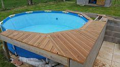 Oberirdische Pools, Pallet Pool, Above Ground Pool Landscaping, Stock Tank Pool, Backyard Pool Designs, Kiddie Pool, Backyard Makeover, Pool Decks, In Ground Pools